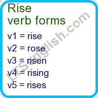 rise verb forms learn english free online ltsenglish com ltsenglish learn talk share english
